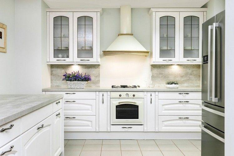 Cuisine blanche - 20 idées incroyablement tendance qui vous feront - cuisine verte et blanche