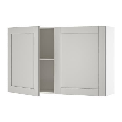 Best Knoxhult Wall Cabinet With Doors Grey 120X75 Cm Ikea 400 x 300