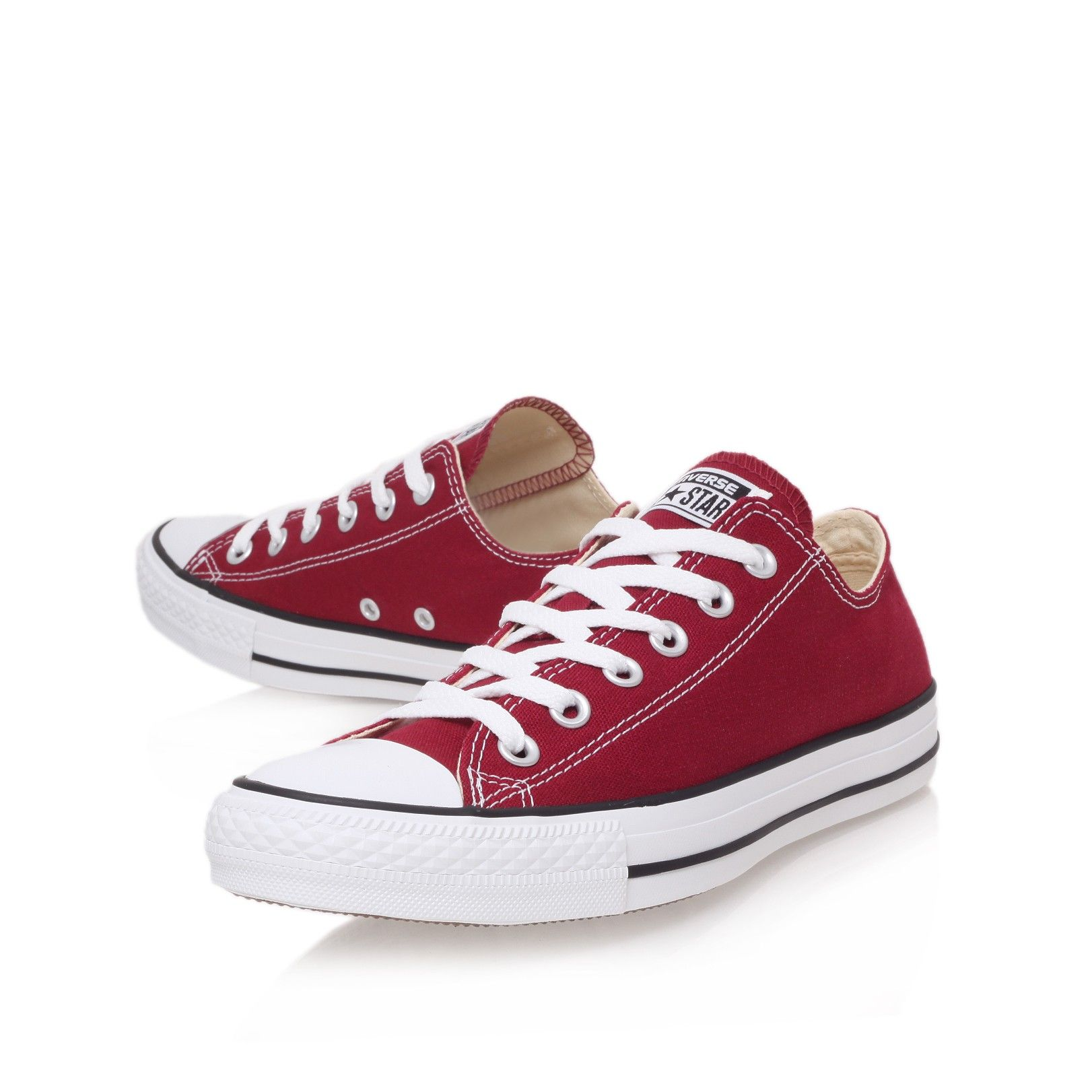 all star low wine flat low top trainers from converse mens