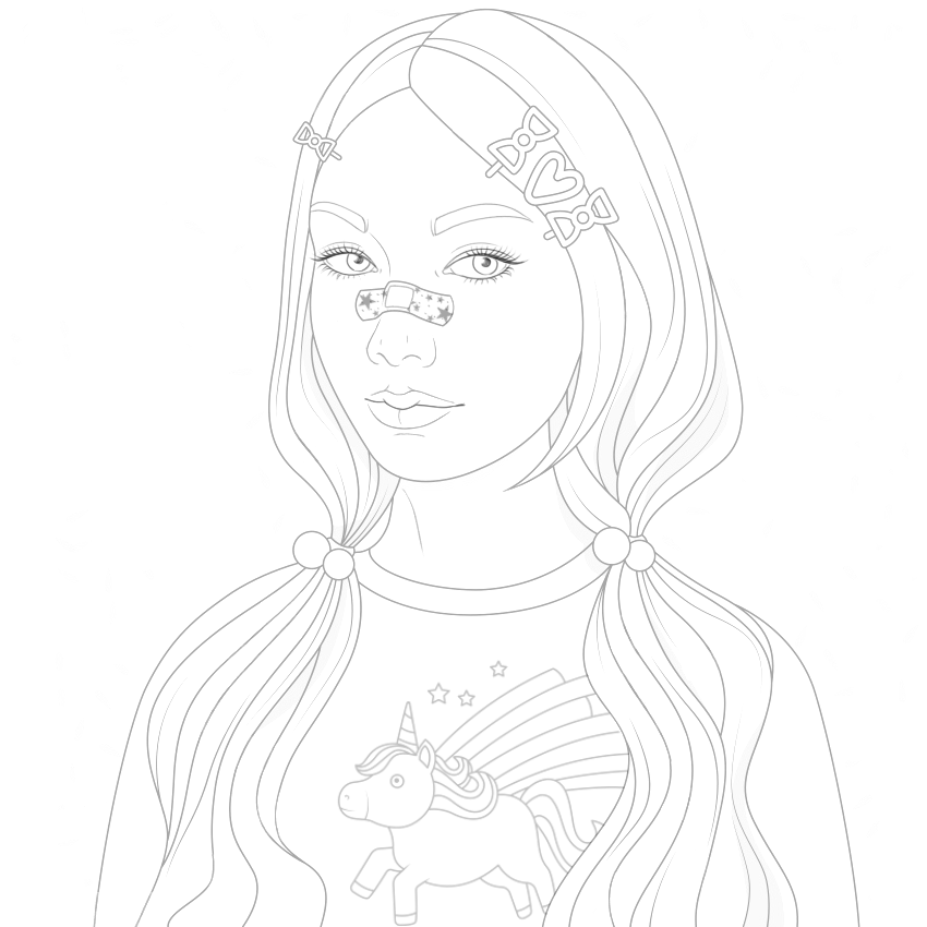 Pin By Seigo Mayumi On Color Therapy Before After Tumblr Coloring Pages Cute Coloring Pages Girly Drawings