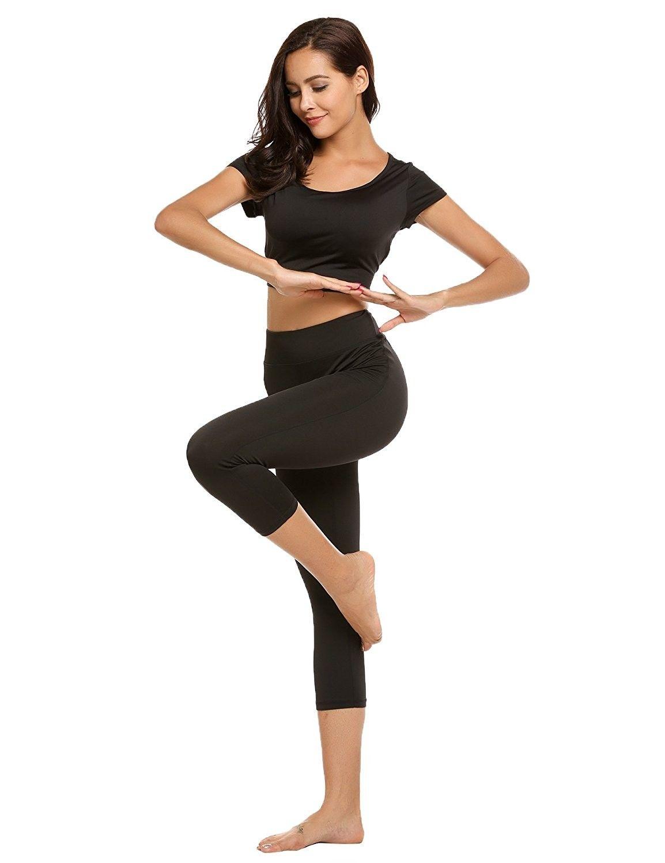 Women's Clothing, Active, Active Top & Bottom Sets, Bodycon Tracksuit  Jumpsuit Sportwear - Black - C81852XS…   Fashion clothes women, Tracksuit  women, Skinny shorts