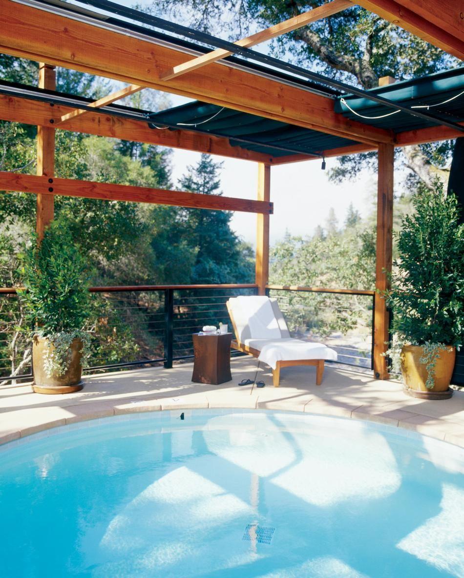California Small Houses With Pools: Watsu Pool At The Beautiful Calistoga Ranch, Napa Valley
