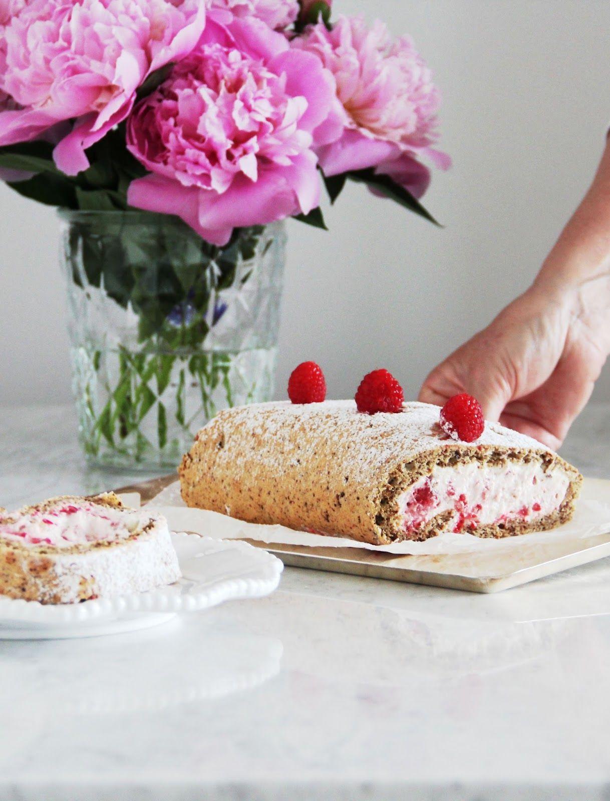 Simple To Make Raspberry Swiss Roll
