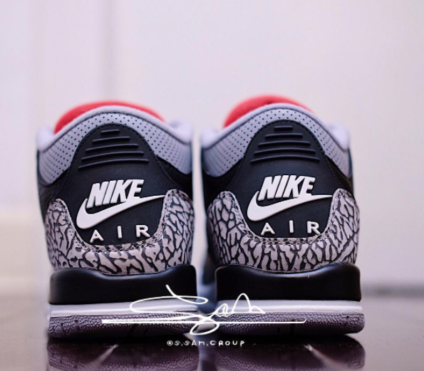 74d6f2784694c3 Our Best Look Yet At The Upcoming Air Jordan 3 OG Retro GS Black Cement