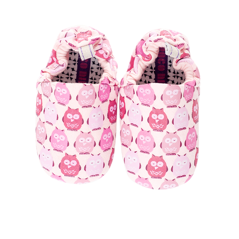 Pink Owls Mini Shoes