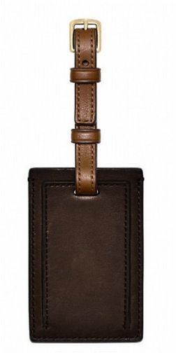 14 Holiday Gifts for Him: Coach Leather Luggage Tag
