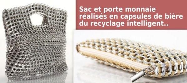 sac et pochettes r alis s partir des languettes d 39 ouverture des canettes de soda bricole. Black Bedroom Furniture Sets. Home Design Ideas