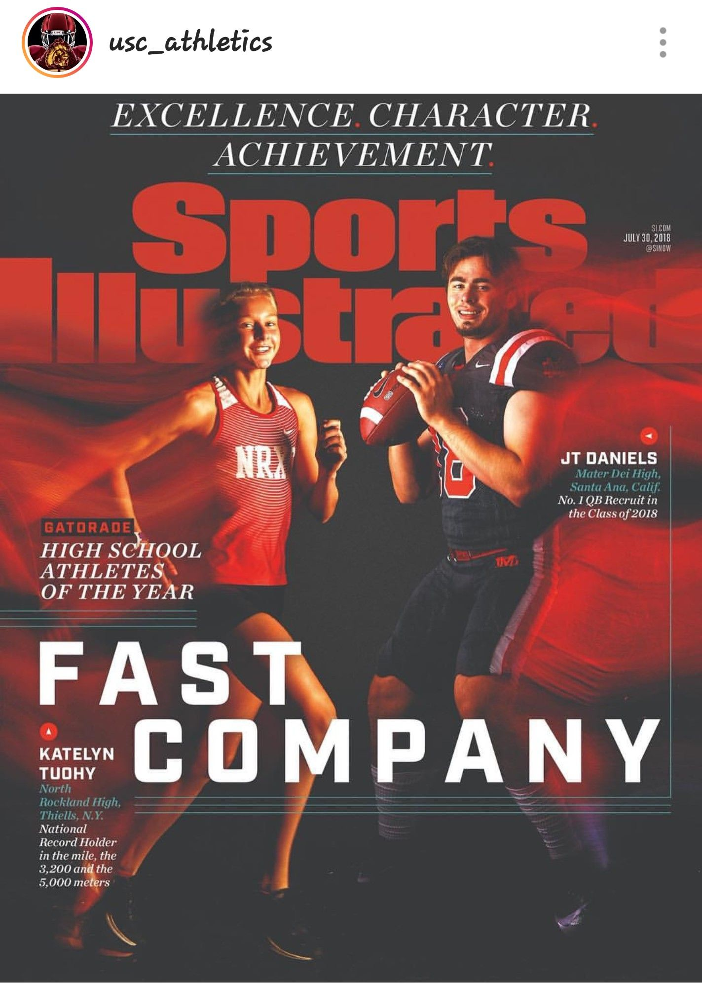 J T Daniels Athlete Of The Year Usc Athletics Usc Usc Trojans