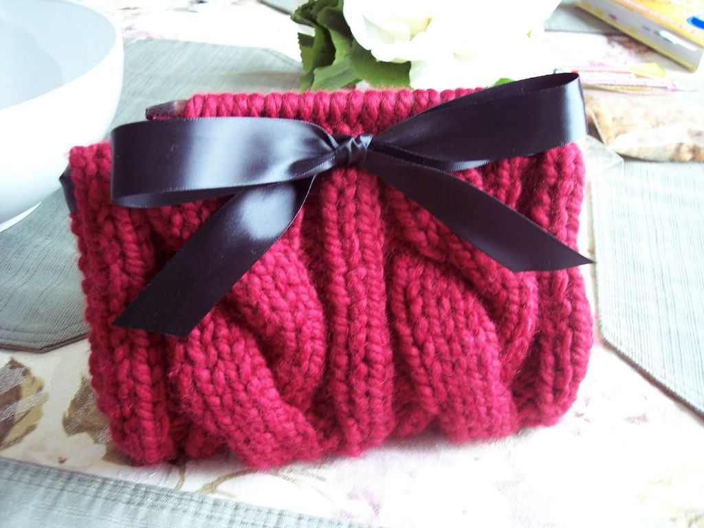 Cabled Clutch #Bag #Totes #Purse #Free #Knitting #Pattern