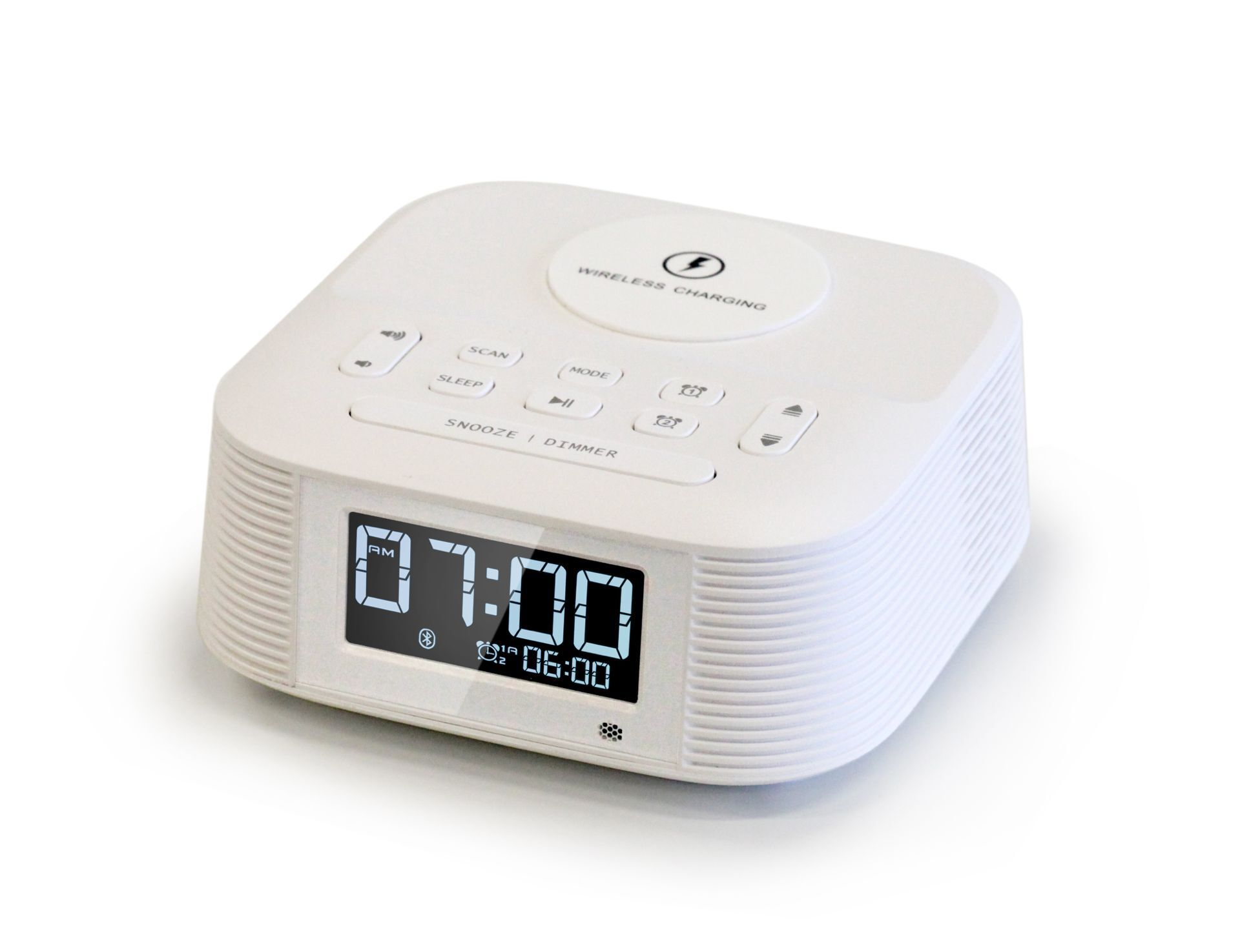 Wireless Fast Charging Speaker Radio Alarm Clock Alarm Clock Sleep Timer