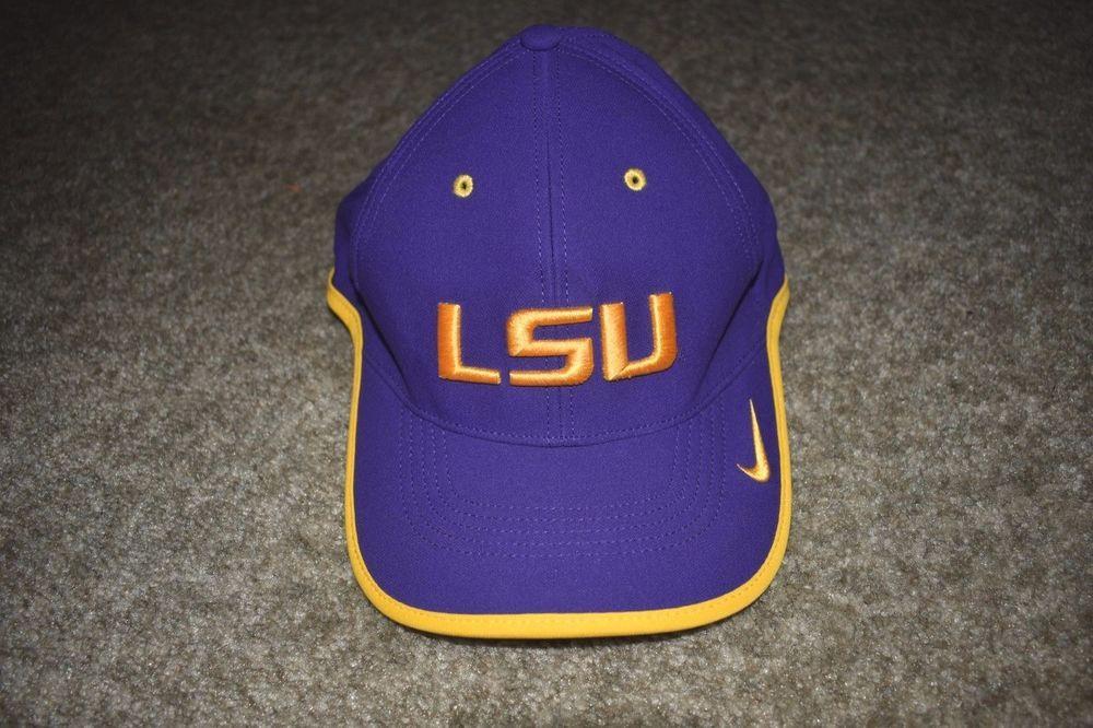 new product 9513e c5b46 NWOT Nike Legacy 91 Purple Gold Swoosh Adjustable LSU Tigers NCAA Hat Cap   Nike  LSUTigers