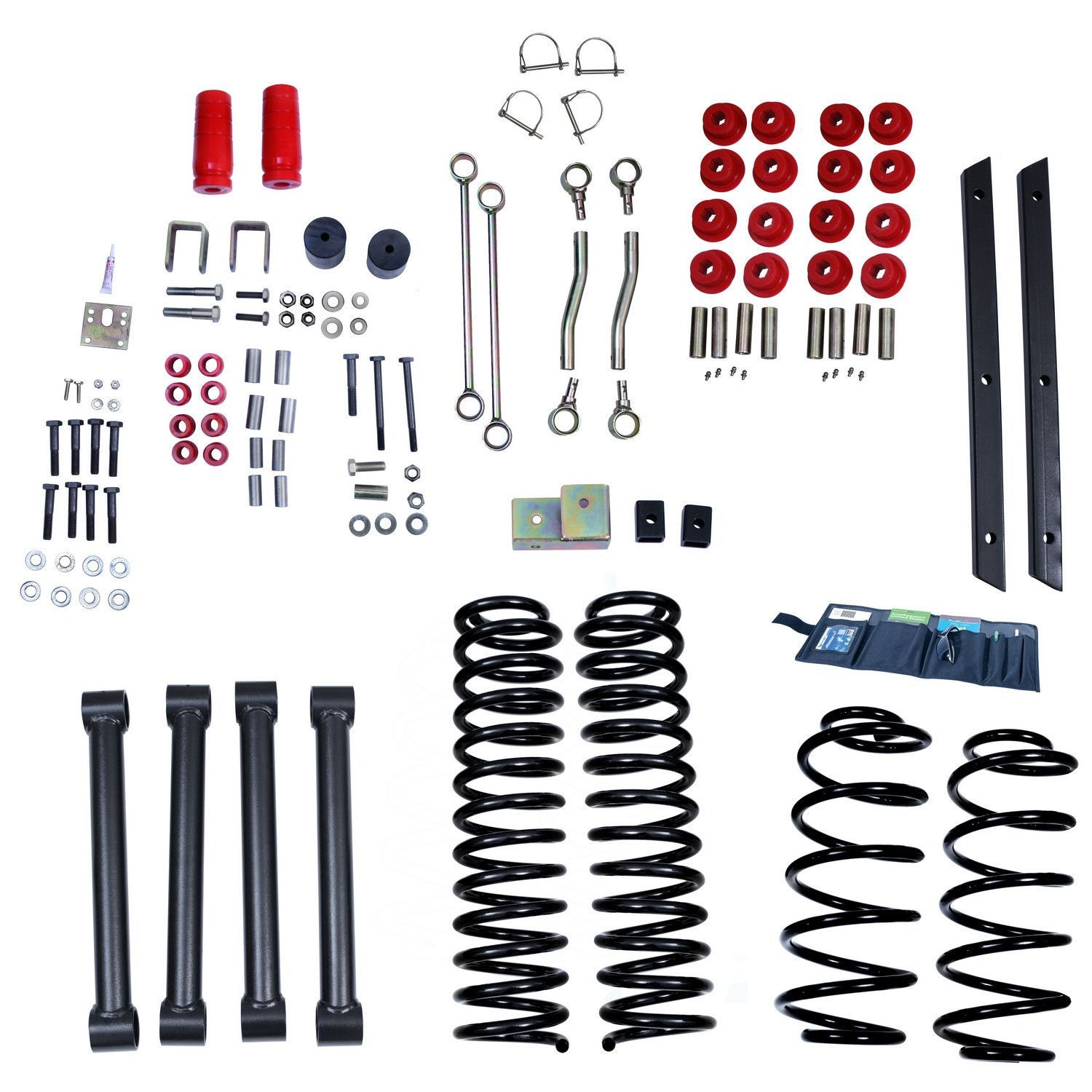 4 Inch Lift Kit without Shocks; 0406 Jeep Wrangler