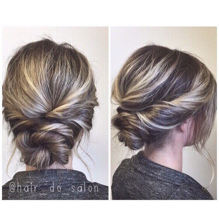 simple twisted updo prom wedding