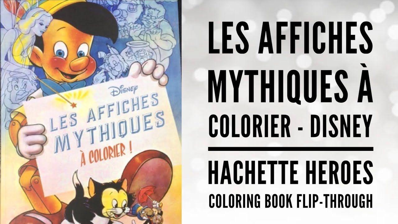 Les Affiches Mythiques À Colorier - Disney Hachette Heroes