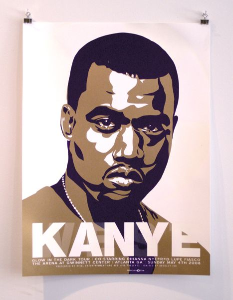 Kanye West Concert Poster By Powerhouse Factories In 2020 Gig Posters Poster Band Posters