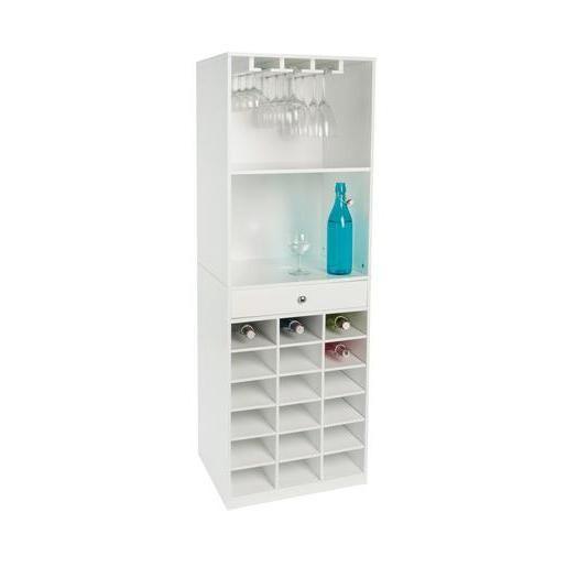 armoire vin mdf 50 x 40 x h 145 cm blanc dcouvrir dans le rayon meuble pour chambre chez lafoirfouillefr plus de 220 magasins rservation