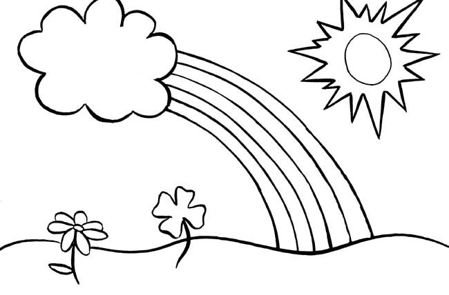 Rainbows And Shamrocks Spring Coloring Pages Kindergarten Coloring Pages Spring Coloring Sheets