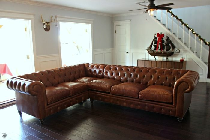 the latest 58f7e 4671f Our New Leather Chesterfield Sectional Sofa |