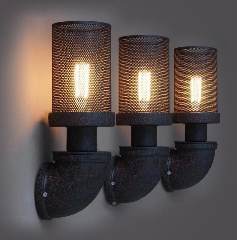 Mesh Wall Lamp Retro Light Rustic Sconce Vintage In Home Furniture Diy Lighting Lights Ebay