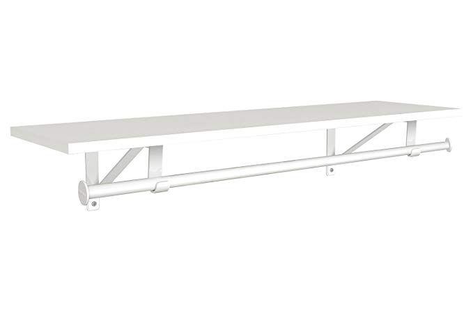 Amazon Com Closetmaid 3304940 Wood Shelf With Hang Rod 3