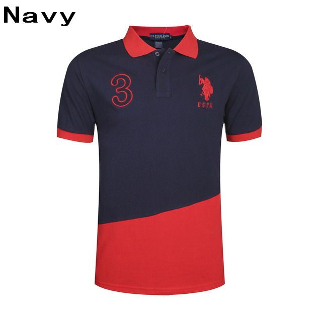 Big Ralph Polo Uspa Men Short Ponyamp; Navy Red 3 Shirts Lauren Sleeve WQrdBECexo