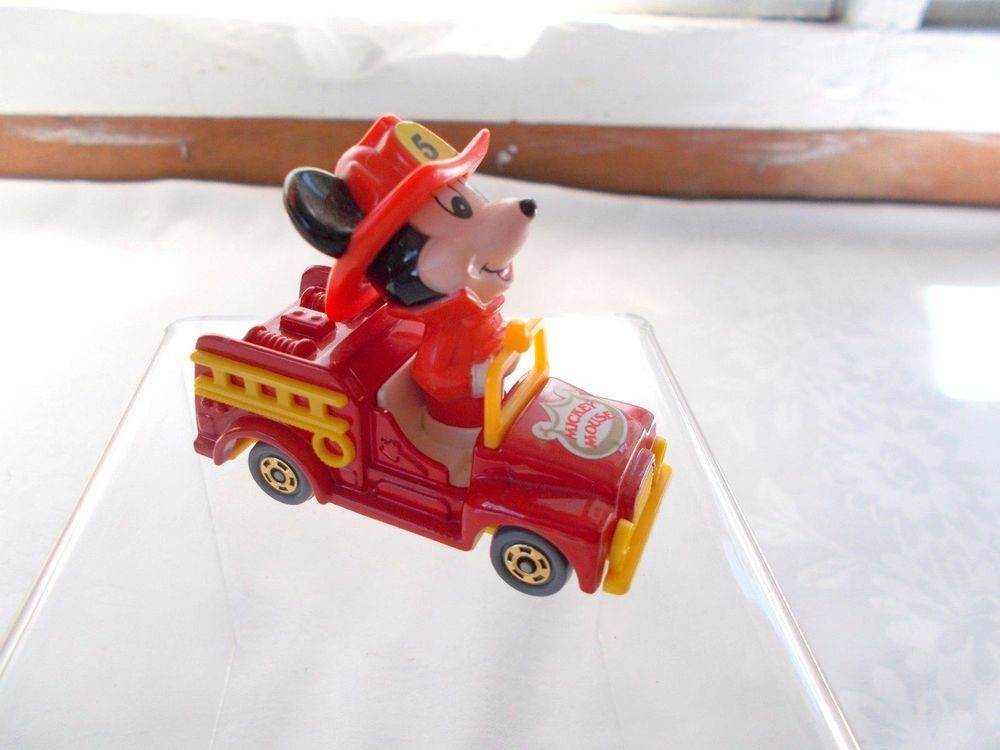 Disney Mickey Mouse Firetruck Die Cast Tomy Fire Truck #TOMY
