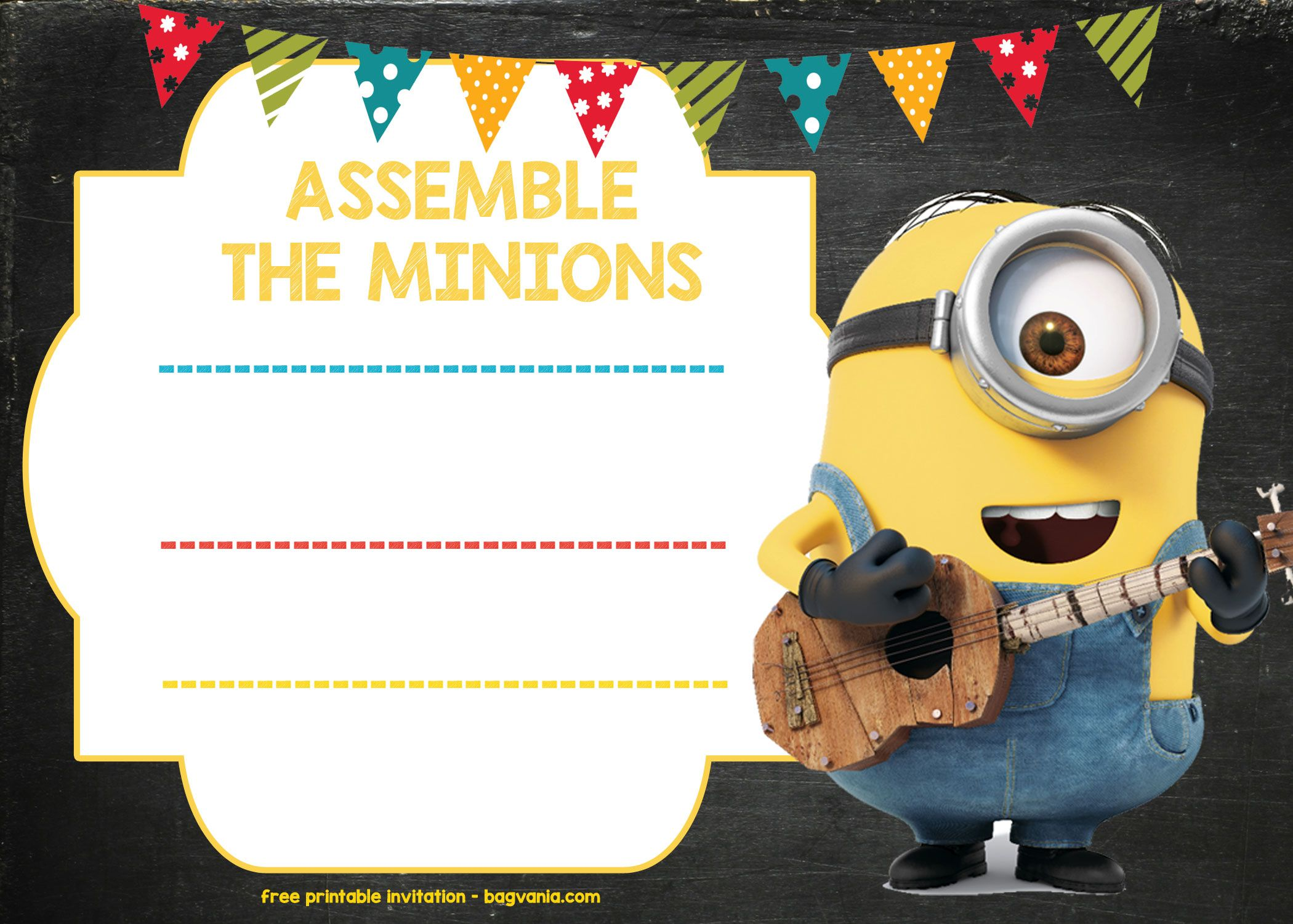 Updated Bunch Of Minion Birthday Party Invitations Ideas Free Downloadable Drevio Minion Birthday Invitations Free Printable Birthday Invitations Birthday Invitation Templates
