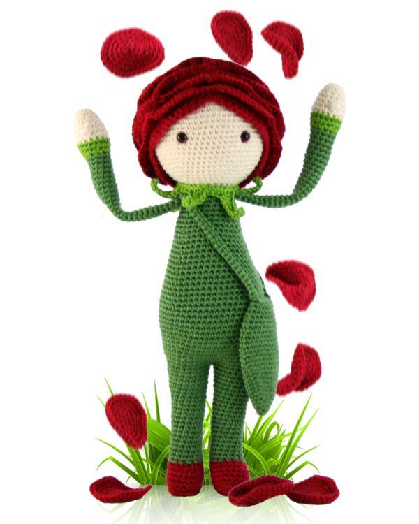 Amigurumi: Rose. régimen libre para los juguetes de tejer. patrón de ...