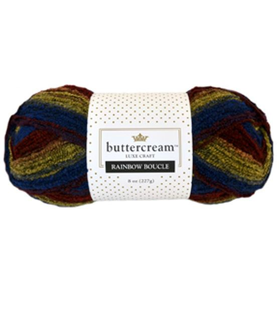 Buttercream Luxe Craft Rainbow Boucle Yarn | Buttercream Inspiration ...