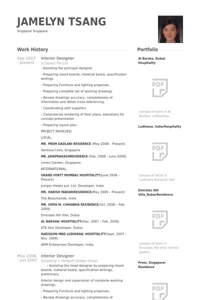 Interior Designer Resume Example Resume Design Free Resume Samples Resume