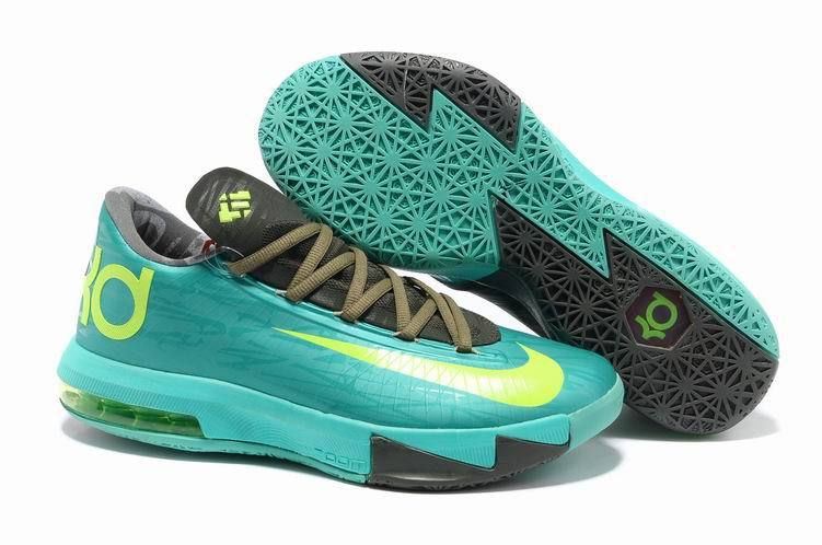 Authentic Mint Green Grey Volt Nike Zoom KD 6 For Wholesale