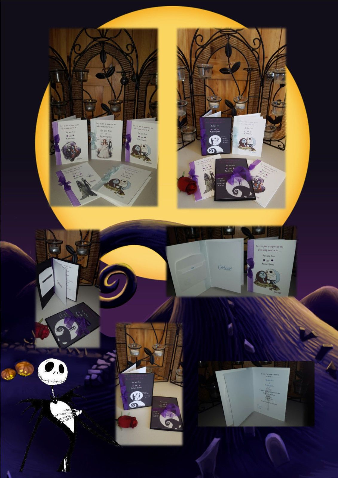 Gothic Wedding, Nightmare Before Christmas Themed   Personalised ...