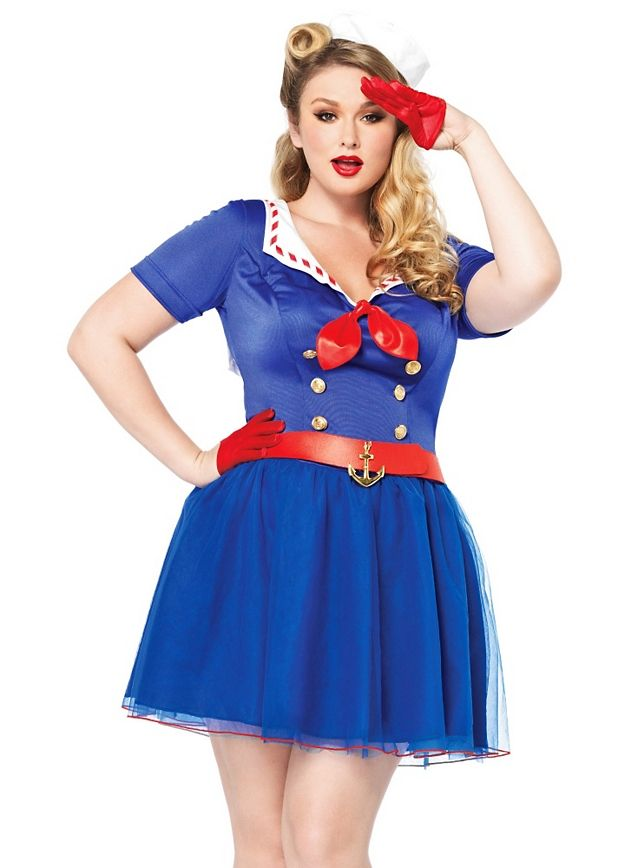 945c6f18e87f5 Sexy Retro Matrosin XXL Kostüm  Sailor  Plus  Size  plussize  blue  marine   ship  boot  red  schiff  blau  rot  sexy  hot  scharf  attraktiv  heiß   schön ...