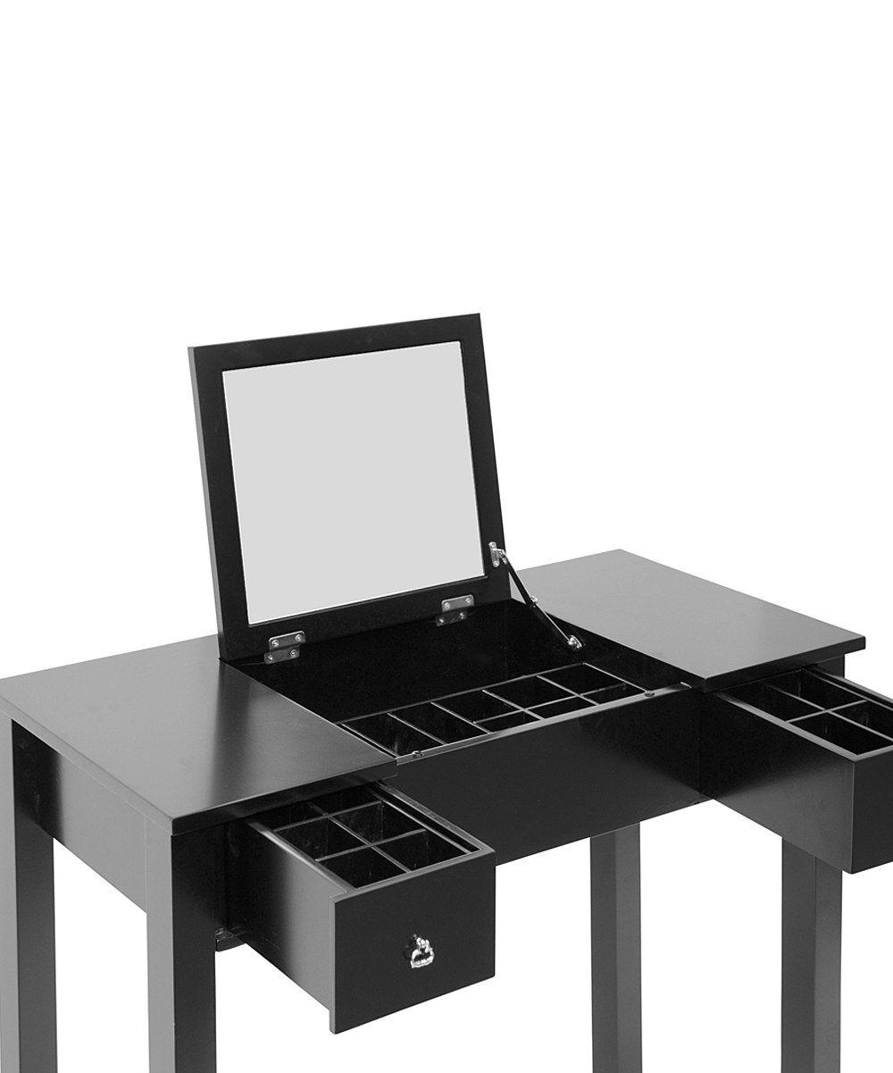 Black vanity table zulily tocador y joyero pinterest black