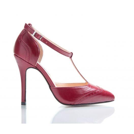 7226aeffe Bijou Marion - Bordeaux  T  Bar Court Shoe - Petite Shoe Boutique http