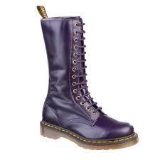 Purple Dr Marten Long Boots.  I <3 you!