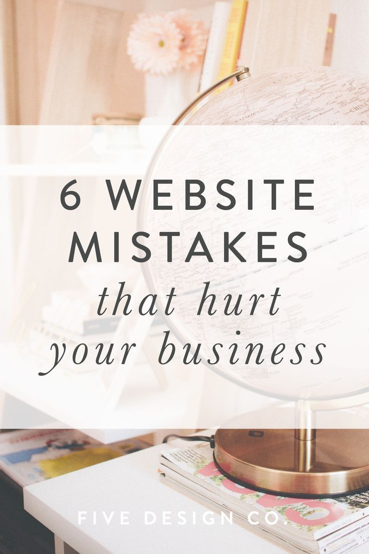 "Top Website Mistakes That Hurt Your Business is part of Website mistakes, Business website, Business advertising design, Website copywriting, Website, Business - The most common website mistakes (""oopsies"" or omissions) that hurt small businesses' brand image, sales and conversion rates—plus, how to avoid them (or fix them if you've got them!)"