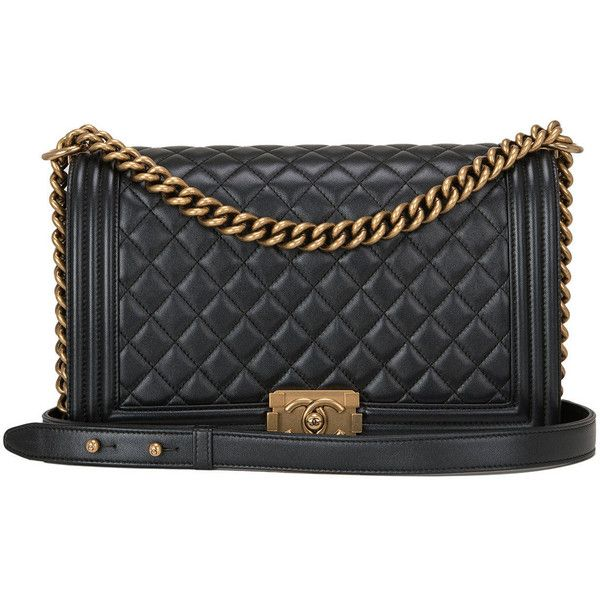 330b1a5ff01a Chanel Pearly Black Lambskin New Medium Boy Bag Gold Hardware ...