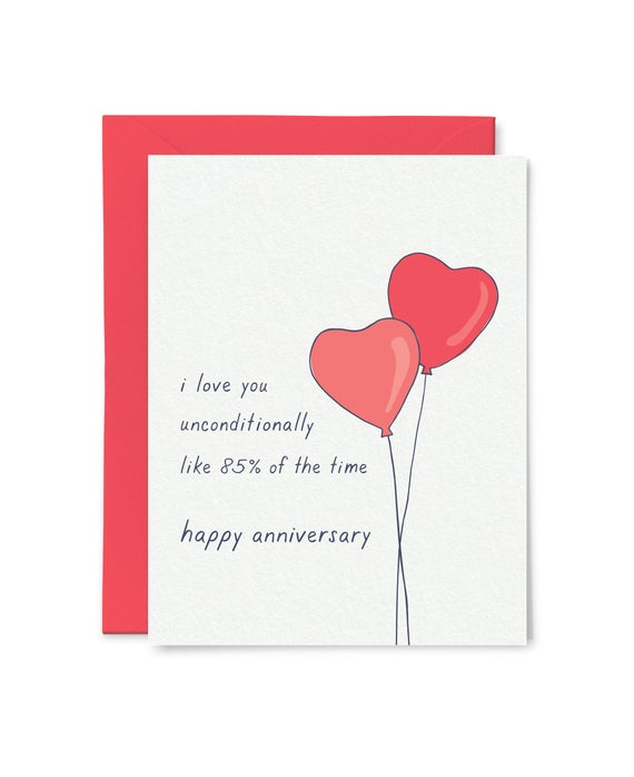 Unconditional Love Anniversary Card Funny Anniversary Card Etsy Anniversary Cards For Husband Anniversary Funny Funny Anniversary Cards