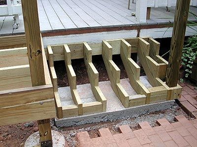 Readington deck addition decks pinterest deck posts for Steps to building a house yourself