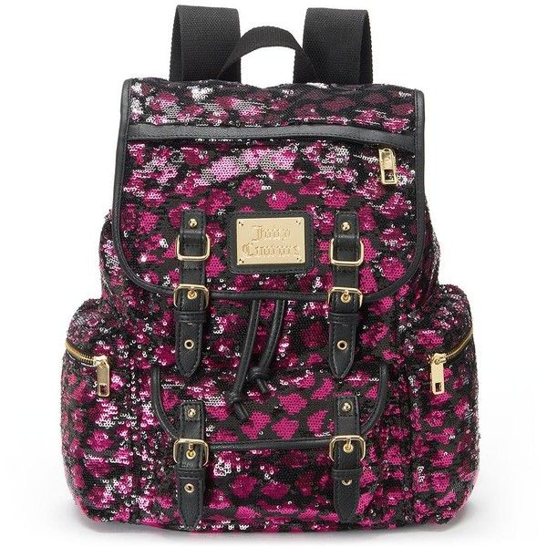 Juicy Couture Lacey Sequin Backpack, Blue (335 NOK) ❤ liked on Polyvore featuring bags, backpacks, blue, sequin backpack, vegan bags, buckle backpack, purple bag and backpacks bags