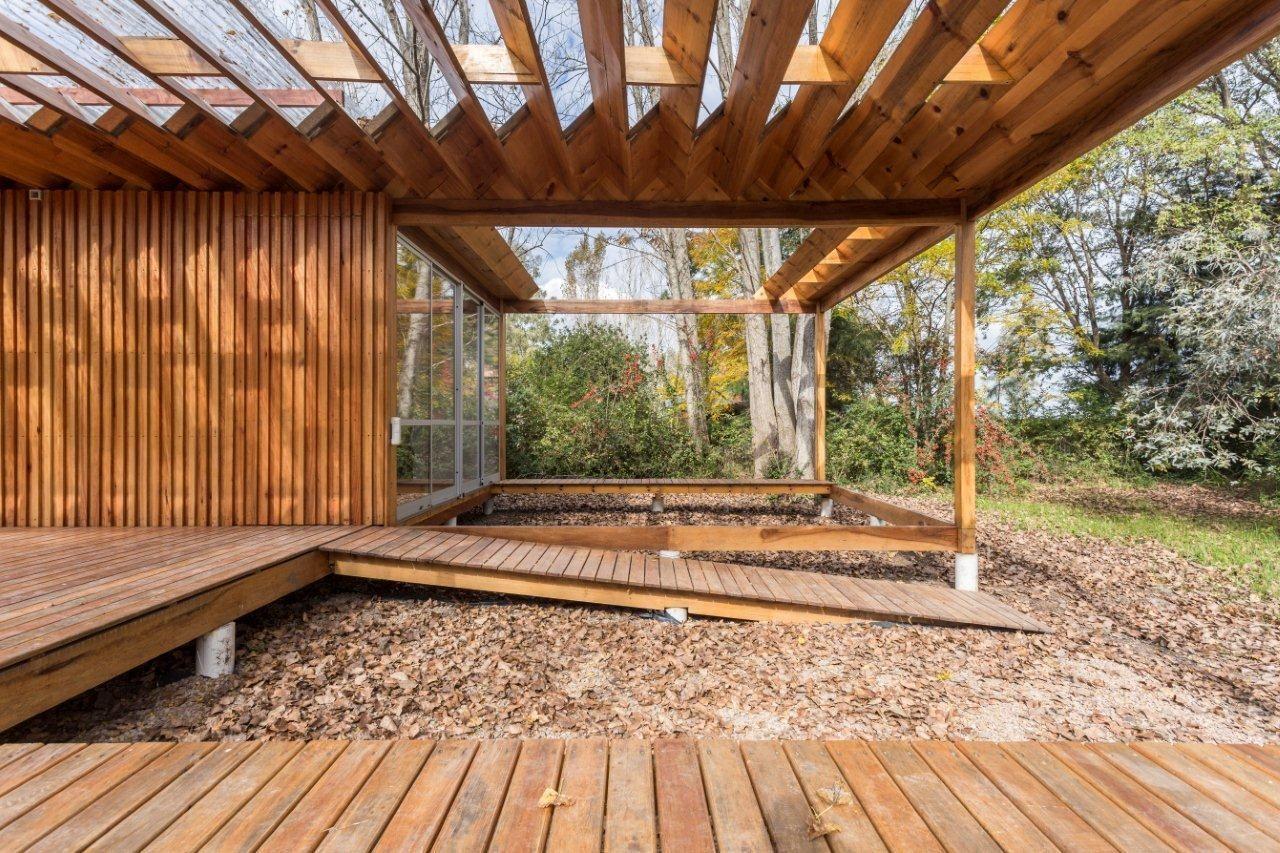 Gallery Of Casa De Madera Estudio Borrachia 29 House In The Woods Architecture Timber Architecture