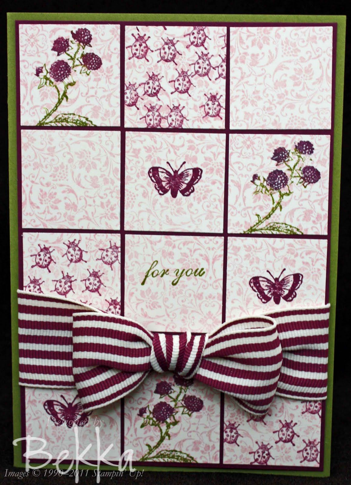 Clearly for You Rich Razzleberry  Card by Bekka Prideaux from Feeling Crafty