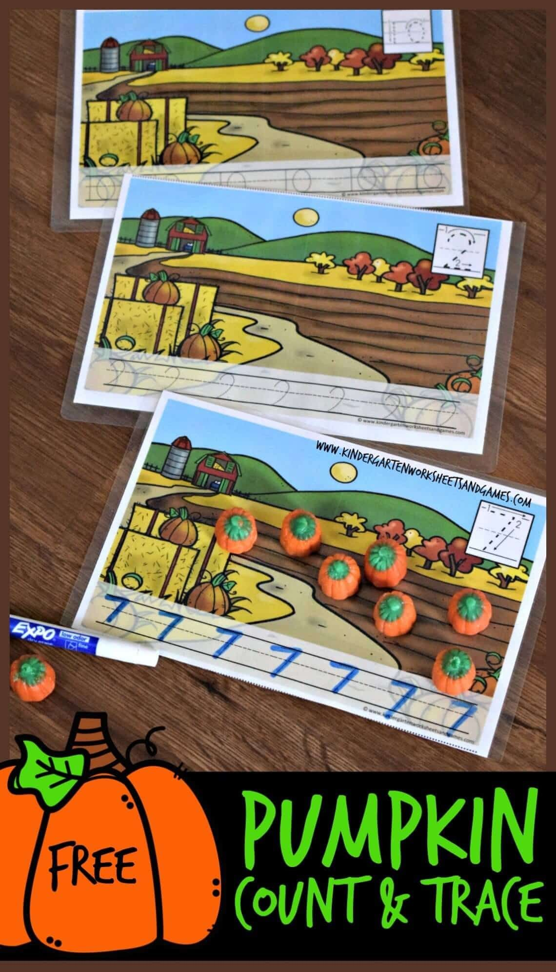 Free Pumpkin Counting Mats For Preschool And Kindergarten