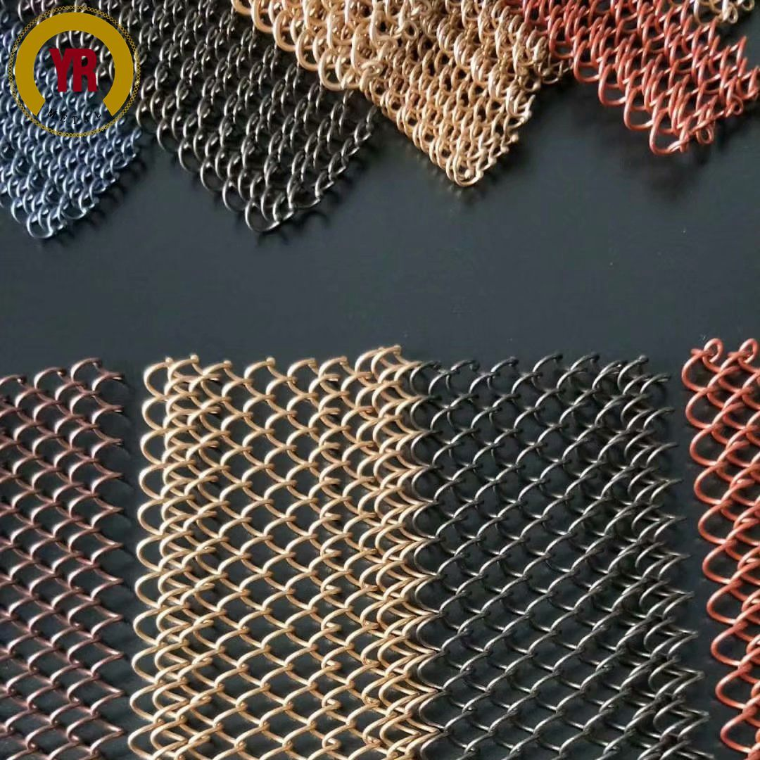 Different Types Of Coil Mesh Drapery Made By Aluminium Wire Beaded Curtains Metal Mesh Metal Products