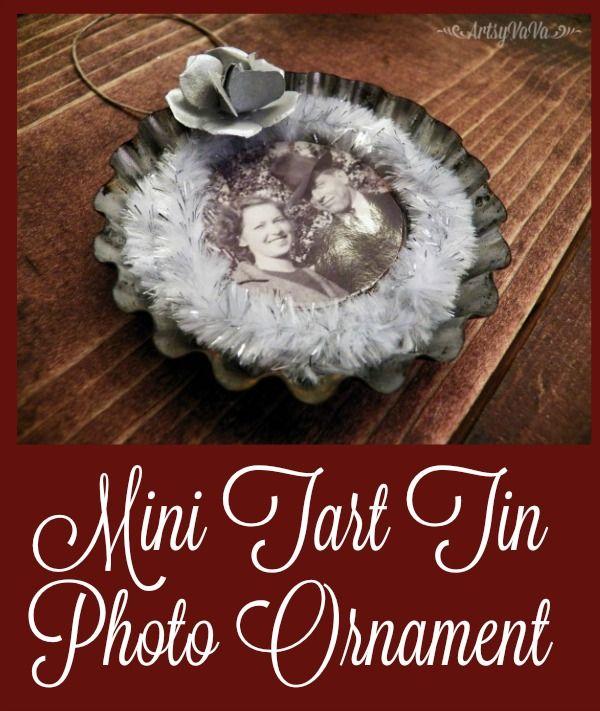 Artsy VaVa: Tart Tin Photo Ornament