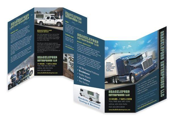 Tri fold 6 panel u003eu003e Transport Services Brochure Brochure Design - services brochure