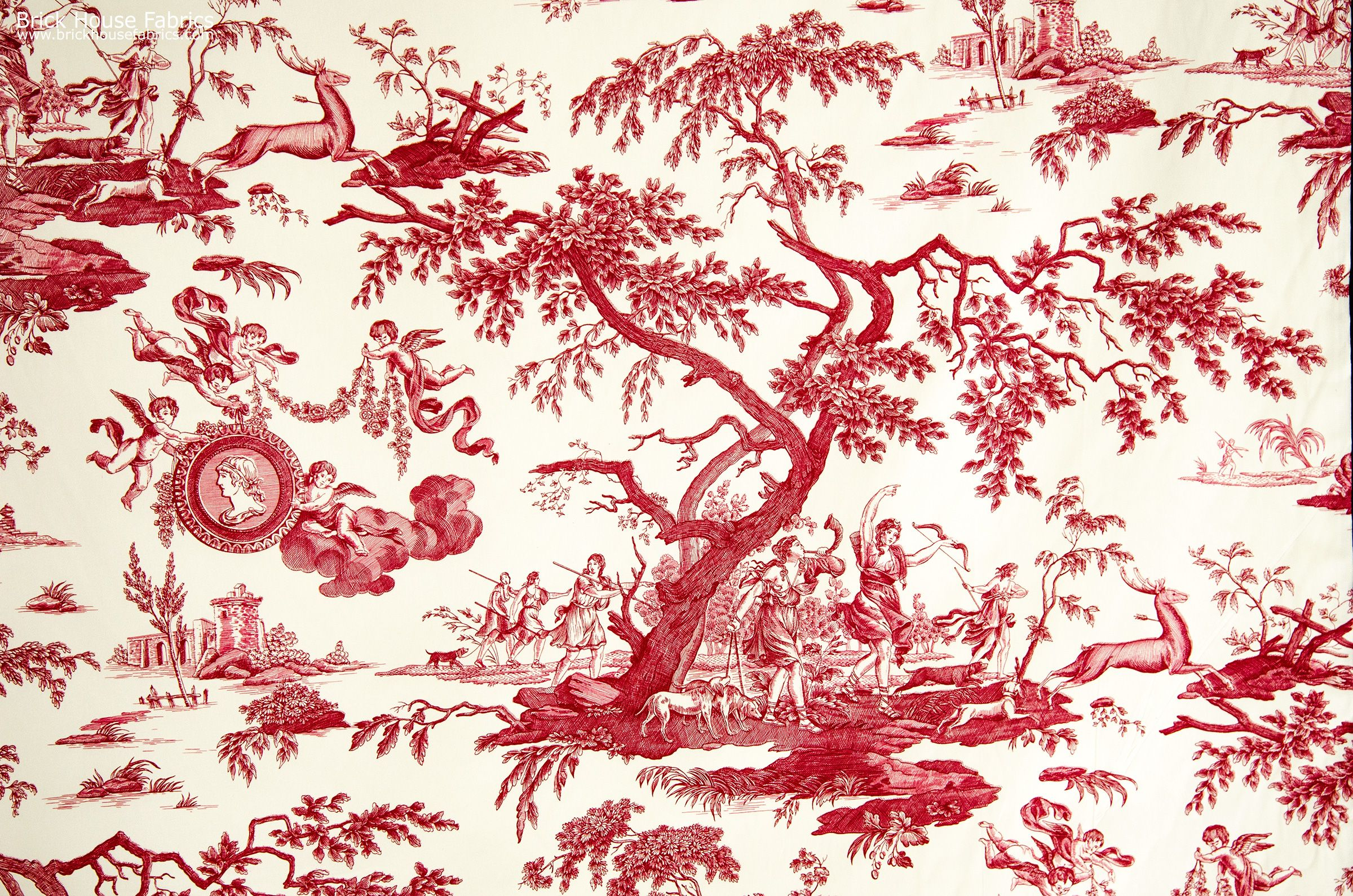 french red toile fabric neoclassic set design pinterest french country fabric toile de. Black Bedroom Furniture Sets. Home Design Ideas