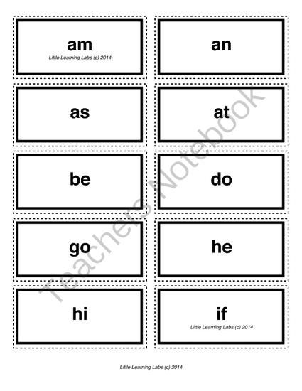 2-letter vocabulary spelling sight words cards for prek primary kindergarten from Velerion Damarke on