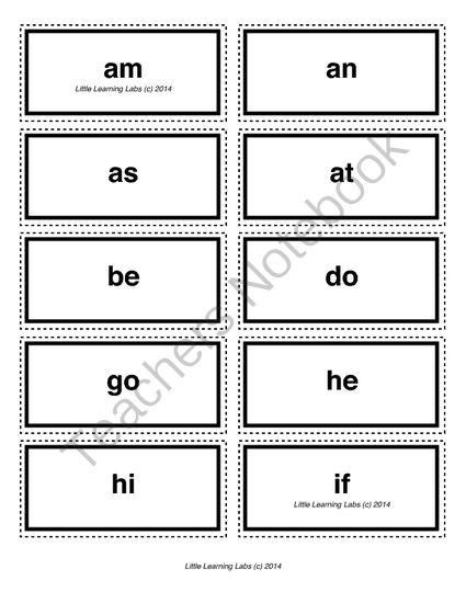 2-letter vocabulary spelling sight words cards for prek primary kindergarten from Velerion Damarke on